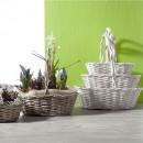 mayorista Plantas y macetas: Sauce arco cesta ovalada S3 35cm gris