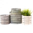 groothandel Tuin & Doe het zelf: Woody pot S2, Ø16,21cm shabby grey
