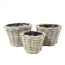 wholesale Garden Furniture:Rattan pot round S3 29cm