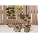 wholesale Plants & Pots: Rattan basket round handles D45cm