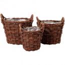 wholesale Plants & Pots: Willow pot stable Ø15 / 20/27 height 19cm foil