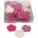 Großhandel Home & Living: Streu Blume Holz rosa 4cm 72Stk.