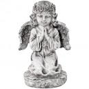 Poly Angel praying gray 17x15x26cm