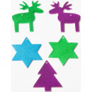 Remaining stock -40% Alu Deco star, tree, deer
