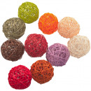 Remaining stock -40% Wicker ball colored Ø8cm