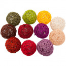 Remaining stock -40% Wicker ball colored Ø12cm