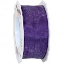 Banda de organza hilo violeta 25m40mm