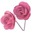 Wooden rose 8cm erika white 24p