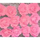Wooden rose 8cm 24pcs pink