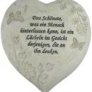 ingrosso Decorazioni: Cuore in lutto fiori pietra 21x20x5cm poli