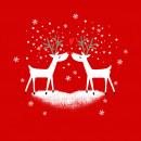 Napkin 33x33 Deers in Love