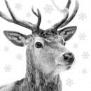 Napkin 33x33, winter deer