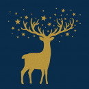 Napkin 33x33, gold deer, blue