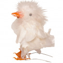 Feather chick H11cm white