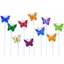 Metal butterfly wire B3cm 10Colours assorted