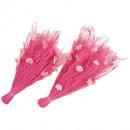 Straw collar 12Blüten pink