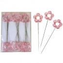 Acrylic Blossom Pin 3,5cm pink