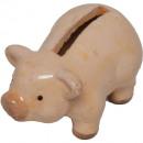 Großhandel Spardosen: Keramik Sparschwein H6cm 2Des