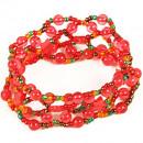 Acrylic glass ribbon L16cm red