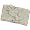 Ceramic book with dove 8,5X5,5X2,5cm