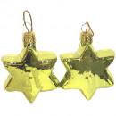 Glass star light green shiny Ø4,2cm