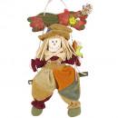 Textile bird scarecrow hanger H30cm
