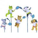 Großhandel Bälle & Schläger: Polyresin Tiere H6cm 5Des Badminton