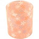 Glass lantern D5cm pink colored