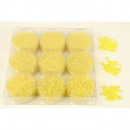 wholesale Artificial Flowers: Pearls 3 sizes 50g yellow