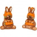 Ceramic litter bunny with carrot H2cm