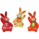Polyresin litter bunny with bib