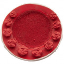 wholesale Artificial Flowers: TERRA plate with ROSES D 11CM RED