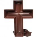 Plant cross X 30cm brown