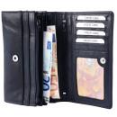 Akzent Damen Geldbörse aus Echtleder. Format 17 x