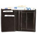 Akzent Herren Geldbörse aus Echtleder. Format 10 x