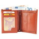 Akzent Herren Geldbörse aus Echtleder. Format 9 x