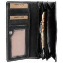Akzent Damen Geldbörse aus Echtleder. Format 18 x