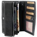 Akzent Damen Geldbörse aus Echtleder. Format 16 x