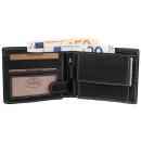 Akzent Herren Geldbörse aus Echtleder. Format 12 x