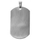 Akcentus rozsdamentes acél medál, szélesség: 27 mm