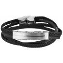 Großhandel Schmuck & Uhren: Echt Leder Armband mit ,Edelstahlelementen ...