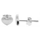 925 Silber Ohrringe, 925/rhodiniert, 0,92g, Farbe: