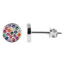 925 Silber Ohrringe, 925/rhodiniert, 0,83g, Farbe: