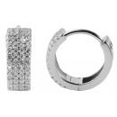 925 Silber Ohrringe, 925/rhodiniert, 4,3g, Farbe:
