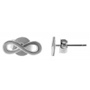 925 Silber Ohrringe, 925/rhodiniert, 0,6g, Farbe: