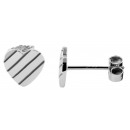 925 Silber Ohrringe, 925/rhodiniert, 1,15g, Farbe: