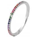 925 Silber Ring, 925/rhodiniert, 0,9g, Ringgröße: