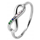 925 Silber Ring, 925/rhodiniert, 1,28g, Ringgröße: