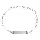 925 Silber Armband, 13+4cm, 925/rhodiniert, 1,6g,