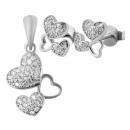 Großhandel Schmuck & Uhren: 925 Silber Schmuckset mit Ohrring und ...
